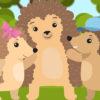 Иллюстрация к детской песне про ёжика